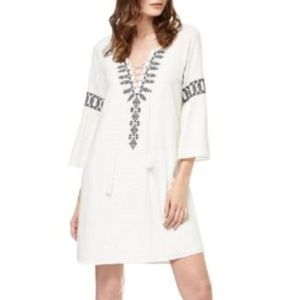 SANCTUARY Lace-Up Embroidered Boho Dress NWT L